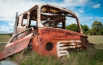 1950's Austin van has seen better days